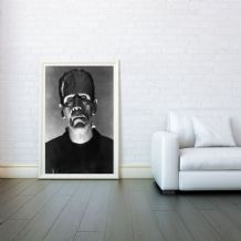 Frankenstein, Movie Poster, Decorative Arts, Prints & Posters, Wall Art Print, Poster Any Size - Black and White Poster